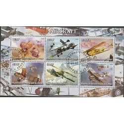 O) 2005 REPUBLIC OF CONGO, AIRCRAFT, CTO, MINI SHEET MNH