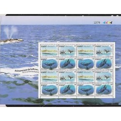 O) 2011 URUGUAY, WHALE WATCHING- EUBALAENA AUSTRALIS, LIGHTHOUSE, BLOCK MNH