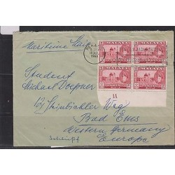 E) 1960 MALASYA, COVER FROM PENANG MOUSQUE BLACK OF 4 WITH PLATE NUMER