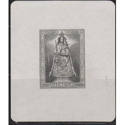 O) 1945 LUXEMBOURG, VIRGIN OUR LORD COMFORTER OF THE AFFLICTED, BLACK SOUVENIR X