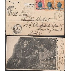 E) 1904 BRAZIL, POSTCARD FROM CUTIYBA TO RIO DE JANEIRO