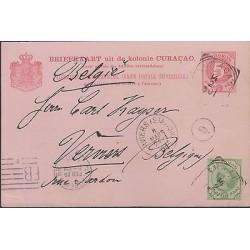 O) 1901 CURACAO, POSTAL STATIONARY, 5 CENT, 12 CENT, ALGEMEENE POST VEREENIGING