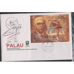 o) 1994 PALAU, BARON PERR DE COUBERTIN, FOUNDER OF MODERN OLYMPIC GAMES, KATARIN