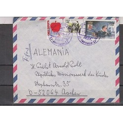 O) 1993 CHILE, CART, OX, SUBMARINE FORCE, COVER TO GERMANY, XF
