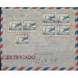 O) 1961 CHILE, CIRCULATED MULTIPL, COVER CERTIFIEDTO RIO DE JANEIRO