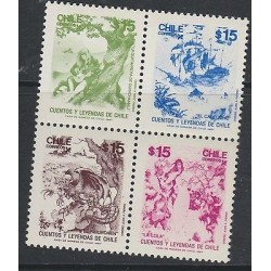 O) 1967 CHILE, TALES AND LEGENDS, SET MNH