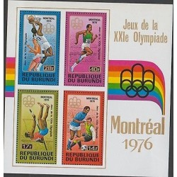 O) 1976 BURUNDI, XXI OLYMPIC GAMES OF THE MONTREAL 1976, SPORTS, SOUVENIR SLIGH