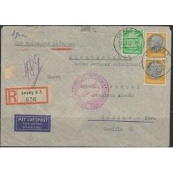 o) 1937GERMANY DEUTSCHLAND REICH, LEIPZIG, MIT LUFTPOST, AIRMAIL TO PERU, XF