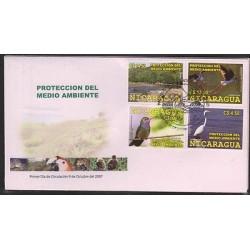 O) 2007 NICARAGUA, BIRDS, HABITAT, PROTECCION DEL MEDIO AMBIENTE, FDC XF.