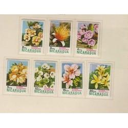 O) 1974 NICARAGUA, FLOWERS, MINT