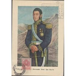 O) 1954 ARGENTINA, LIBERATOR GENERAL SAN MARTIN, SEAL ORO NEGRO - BLACK GOLD, PO