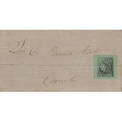 G)1866 ARGENTINA, CIRCULATED COMPLETE LETTER TO ARGENTINA CORRIENTES, INTERNAL U