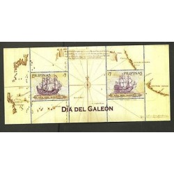 RO) 2010 PHILIPPINES, DAY OF THE GALLEON, SOUVENIR MNH