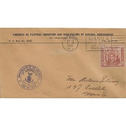 G)1936 PHILIPPINES, MANILA TRADE CENTER OF THE PACIFIC SEAL, PRESIDENT MANUEL L.