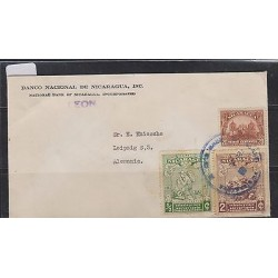 O) 1939 NICARAGUA, UPU, MAIL 1862 POSTMAN, HORSE CARRIAGE, 20 CENTAVOS BROWN, C