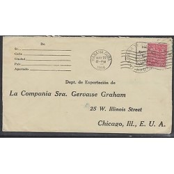 O) 1914 CARIBE, STAMPS MAP - 2 CENTAVOS, COVER XF TO UNITED STATES,