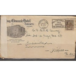 O) 1919 CANADA, KING EDWARD HOTEL IN TORONTO, TO MEXICO, XF