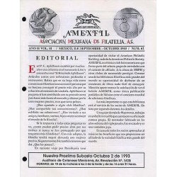 G)1993 MEXICO, AMEXFIL MAGAZINE, SPECIALIZED IN MEXICAN STAMPS, YEAR 11 VOL. 11-