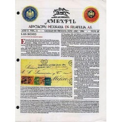 G)1992 MEXICO, AMEXFIL MAGAZINE, SPECIALIZED IN MEXICAN STAMPS, YEAR 11 VOL. 11-