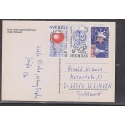 E)1981 SWEDEN, NOBEL PRIZE, SCIENCE, CIRCULATED COVER TO GERMANY, XF
