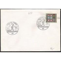 E)1966 GERMANY, VOLEYBALL, TRAFFIC SIGNALS, MARCOPHILIA