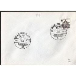 E)1967 GERMANY, SKI, SKIER, CHURCH, MARCOPHILIA
