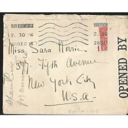 E)1917 GREAT BRITAIN, WAR CENSORSHIP, CIRCULATED COVER TO USA, F