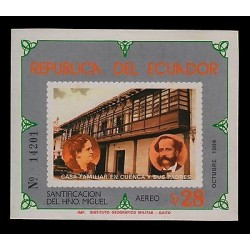 E)1984 ECUADOR, FAMILY HOME IN BASIN AND THEIR PARENTS, SANCTIFICATION BROTHER
