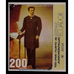 E)1989 ECUADOR, PORTAIT OF JUAN MONTALVO, 100 YEARS AFTER HIS DEATH,ESSAYIST