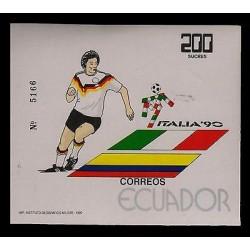 E)1990 ECUADOR, FOOTBALL-PLAYER, ITALY-ECUADOR JOINT ISSUE, MNH