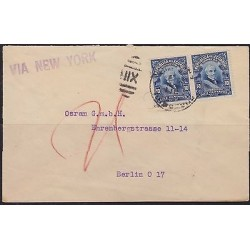 O) 1911 ECUADOR, PRESIDENT - WRITER - GARCIA MORENO - 10 CENTAVOS , COVER TO BER