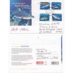 E) 2005 AUSTRALIA, REEF SHARKS, TO ECUADOR FDC CIRCULATED