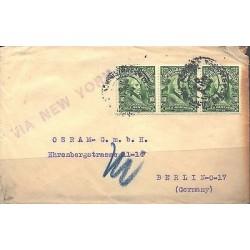 O) 1911 ECUADOR, PRESIDENT, WRITER GARCIA MORENO - 10 CENTAVOS GREEN, COVER TO