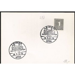 E)1963 GERMANY, FANCY CANCE,. MARCOPHILIA