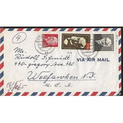 E)1966 GERMANY, OTTO GROTEWOHL, ADOLPH VON MENZEL, CIRCULATED COVER TO USA, XF