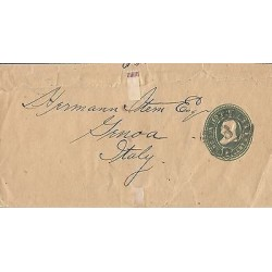 E)CIRCA 1898 USA, 1 CENT GREEN BENJAMIN FRANKIN, PRINTED WRAPPER POSTAL