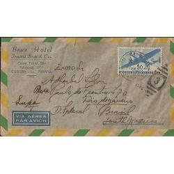 E)1911 USA, AIRPLANE - UNITED STATES OF AMERICA STAMP, AIR MAIL, BRAZ HOTEL