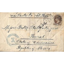 E)1876 USA, U.S POSTAGE, TEN CENT JEFFERSON, CIRCULATED COVER FROM NEW YORK