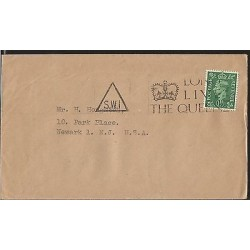 E)1918 GREAT BRITAIN, KING GEORGE II, CIRCULATED COVER TO USA, XF