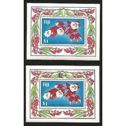 E)1987 FIJI, MEDINILA WATERHOUSEI, FLOWER, PLANT, TAGIMOUCIA, SOUVENIR SHEET