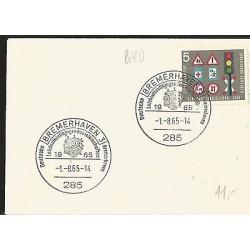 E)1965 GERMANY, SHIP, TRAFFIC SIGNALS, MARCOPHILIA