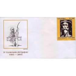 E) 2005 COLOMBIA, IV CENTENARY DON QUIXOTE, FDC