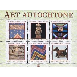 E) 2003 UNITED NATIONS, ART AUTOCHTONE, LATIN AMERICAN EDITION, SOUVENIR SHEET