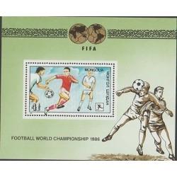 O) 1986 MONGOLIA, FIFA, FOOTBALL WORLD CHAMPIONSHIP, SOUVENIR MNH