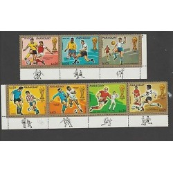 O) 1974 PARAGUAY, WORLD CUP SOCCER GERMANY 1974, FOOTBALL, SET MNH