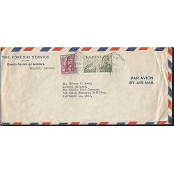 E)1961 MOROCCO, AIR MAIL, JUAN DE LA CIERVA, CIRCULATED COVER