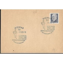 E)1965 GERMANY, POSTMAN, FANCY CANCE,. MARCOPHILIA