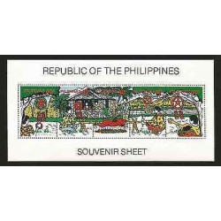 E)2008 PHILIPPINES, TRADITIONS, FOOD, MUSIC, SPORTS, S/S, MNH