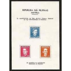 E)1944 PHILIPPINES, THE BIRTH OF PATRIOTIC SPIRIT, RIZAL, BURGOS, BANINI