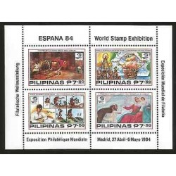 E)1984 SPAIN, WORLD PHILATELIC EXHIBITION, JOINT ISSUE WITH PHILIPPINES